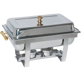 Chafing Dish GN 1/1 abnehmbarer Deckel Messinggriffe  L 610 mm  H 350 mm Produktbild